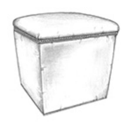 Cortez storage ottoman