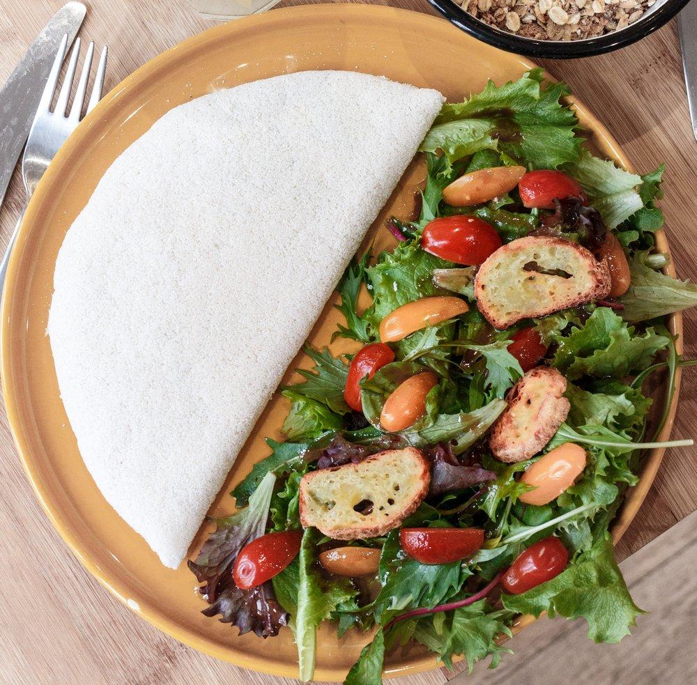 Saudável, sem gluten e deliciosas tapiocas - Se surpreenda com as nossa tapiocas. Crocante e saudável, um verdadeiro prato brasileiro que te surpreenderá! Prove um clássico brasileiro ou uma receita com um toque francês.