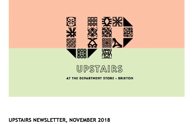 Upstairs Newsletter November 2018