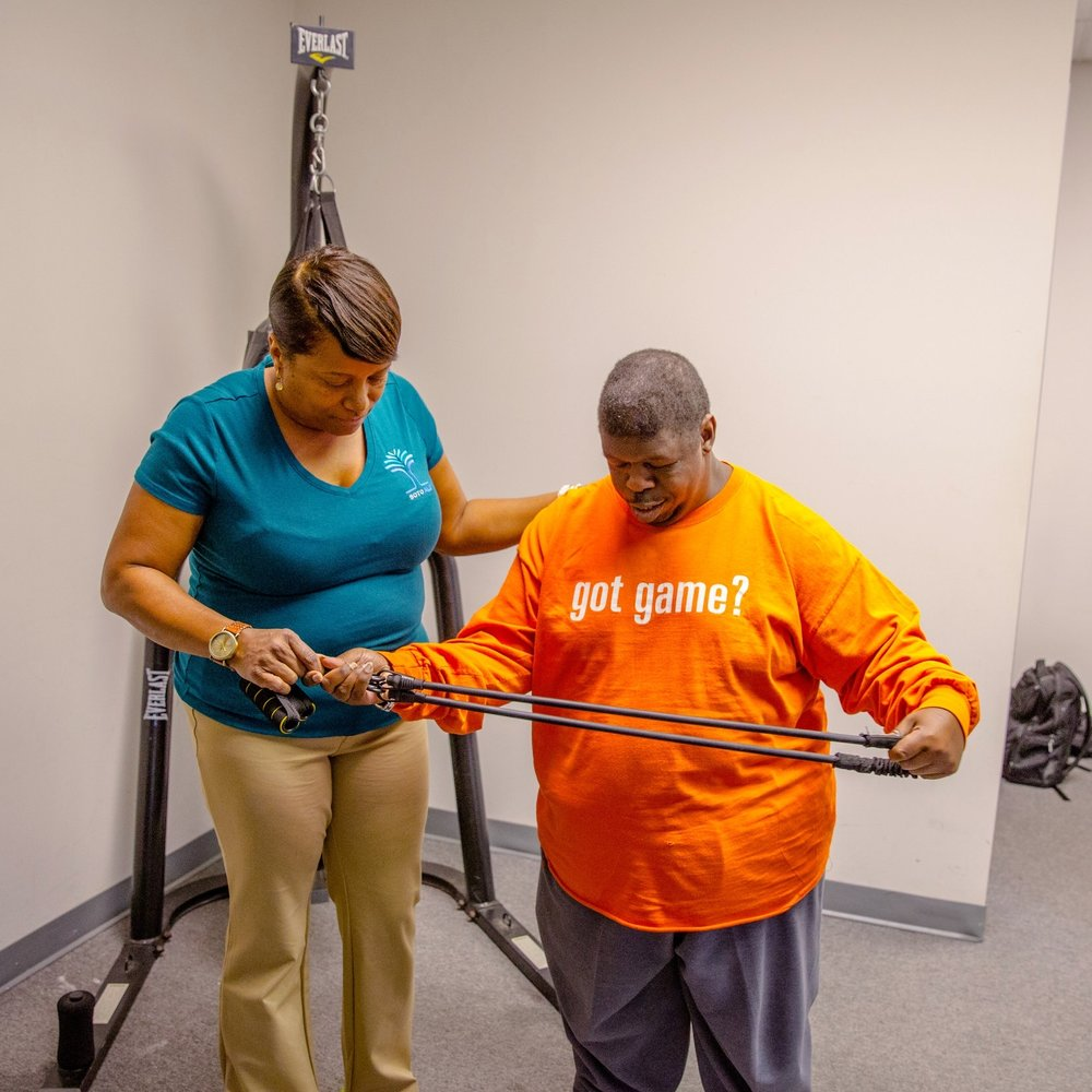 Soto ALG's Community Access Individual program feature a 1:1 ratio to increase active participation outside the home. And it is a standard part of our day programs for adults with disabilities.