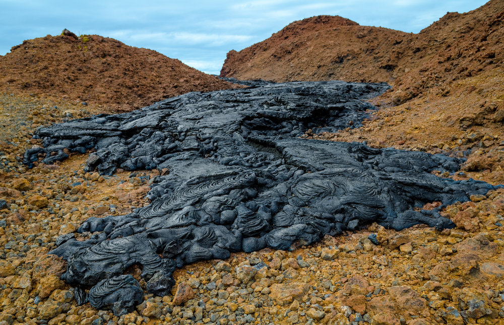 End of a Lava River on Santiago Island in the Galapagos Islands