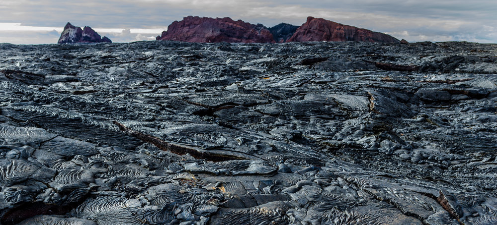 Lava Field on Santiago Island in the Galapagos Islands
