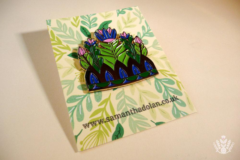 Spring Flower Crown Enamel Pins — Samantha Dolan