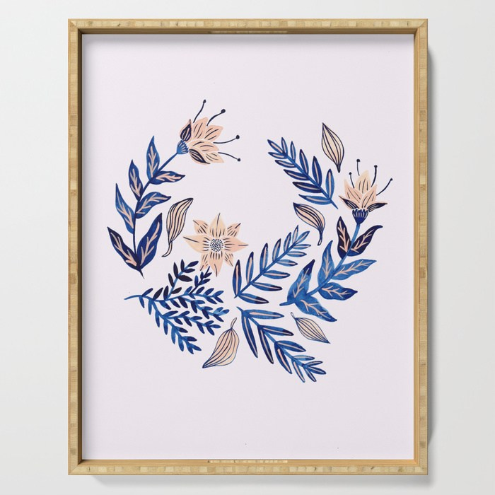 wreath serving tray society 6 by samantha dolan