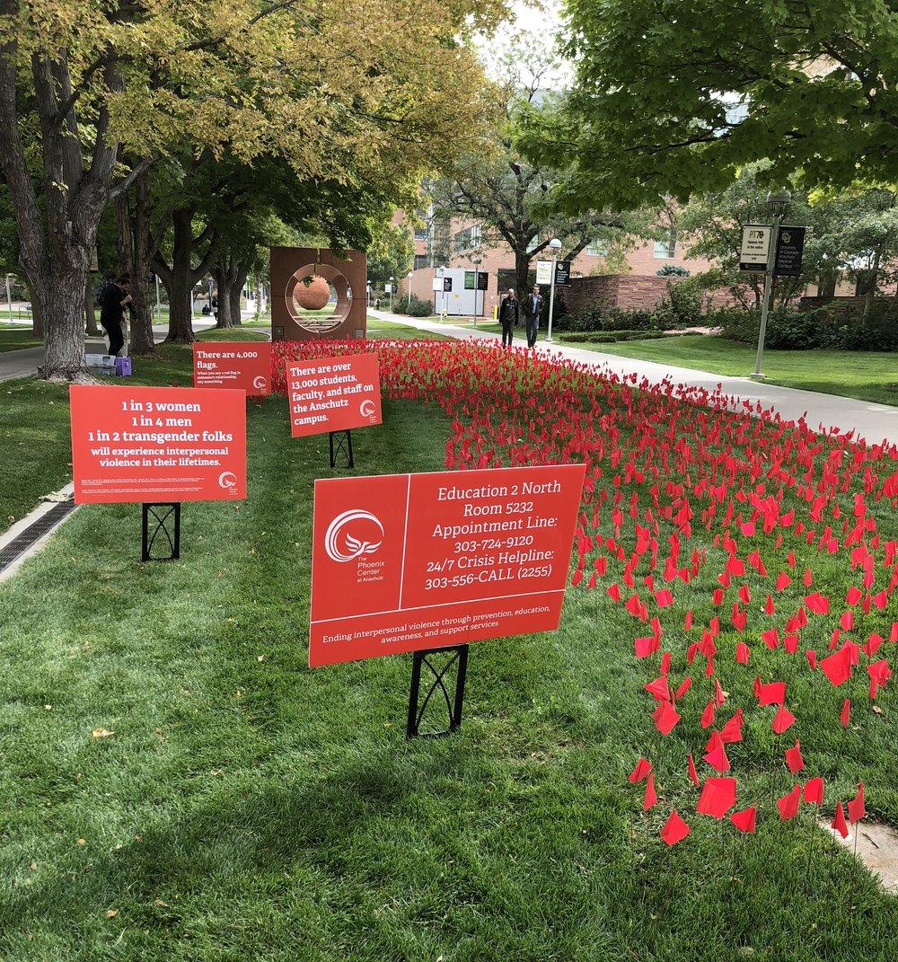 CU Anschutz Red Flag Installation. 2018.