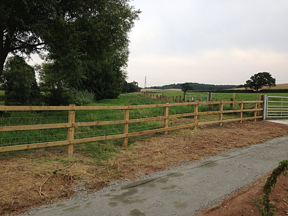 Post & rail fencing for Worcester County Council