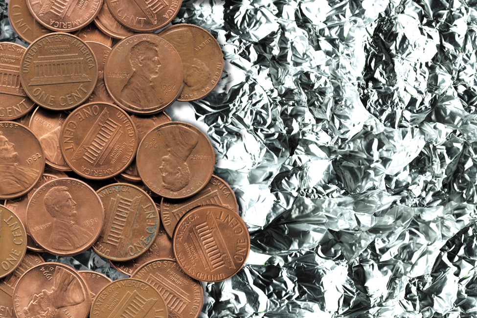 Float Your Boat - Get a piece of foil. Shape it so that it looks like a boat. Fill up the sink. Does the boat float? If not, reshape it until it does. When your boat floats, see how many pennies it will carry before it capsizes. Does it make a difference where you put the pennies? Why?