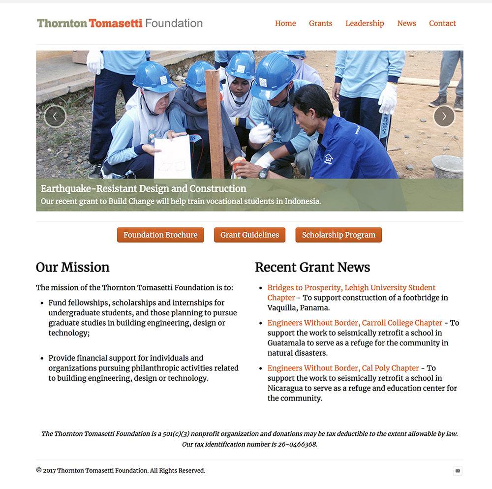 Thornton Tomasetti Foundation - www.thorntontomasettifoundation.org