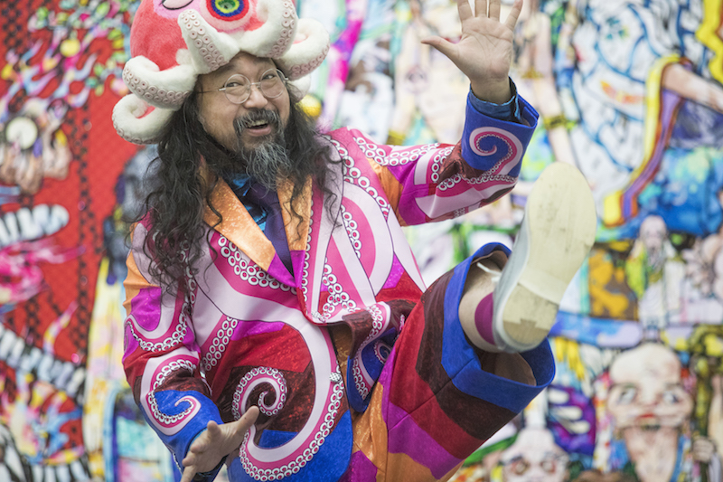 Takashi Murakami. Photo: Maria Ponce Berre, © Takashi Murakami / Kaikai Kiki Co., Ltd. All rights reserved. Courtesy MCA Chicago.