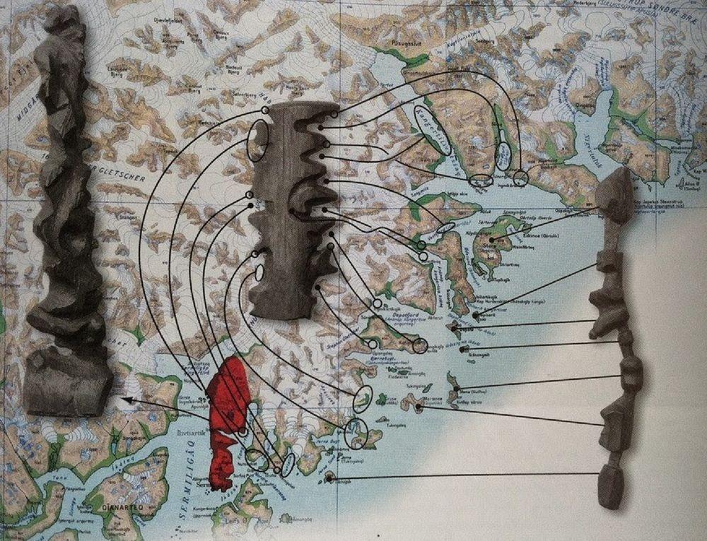 mobile Holzkarten   Inuits, Grönland
