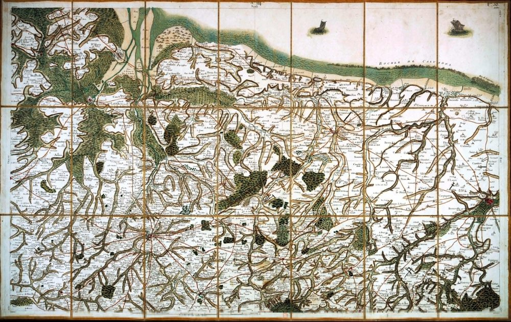 Carte de Cassini   1750 — 1793, Frankreich