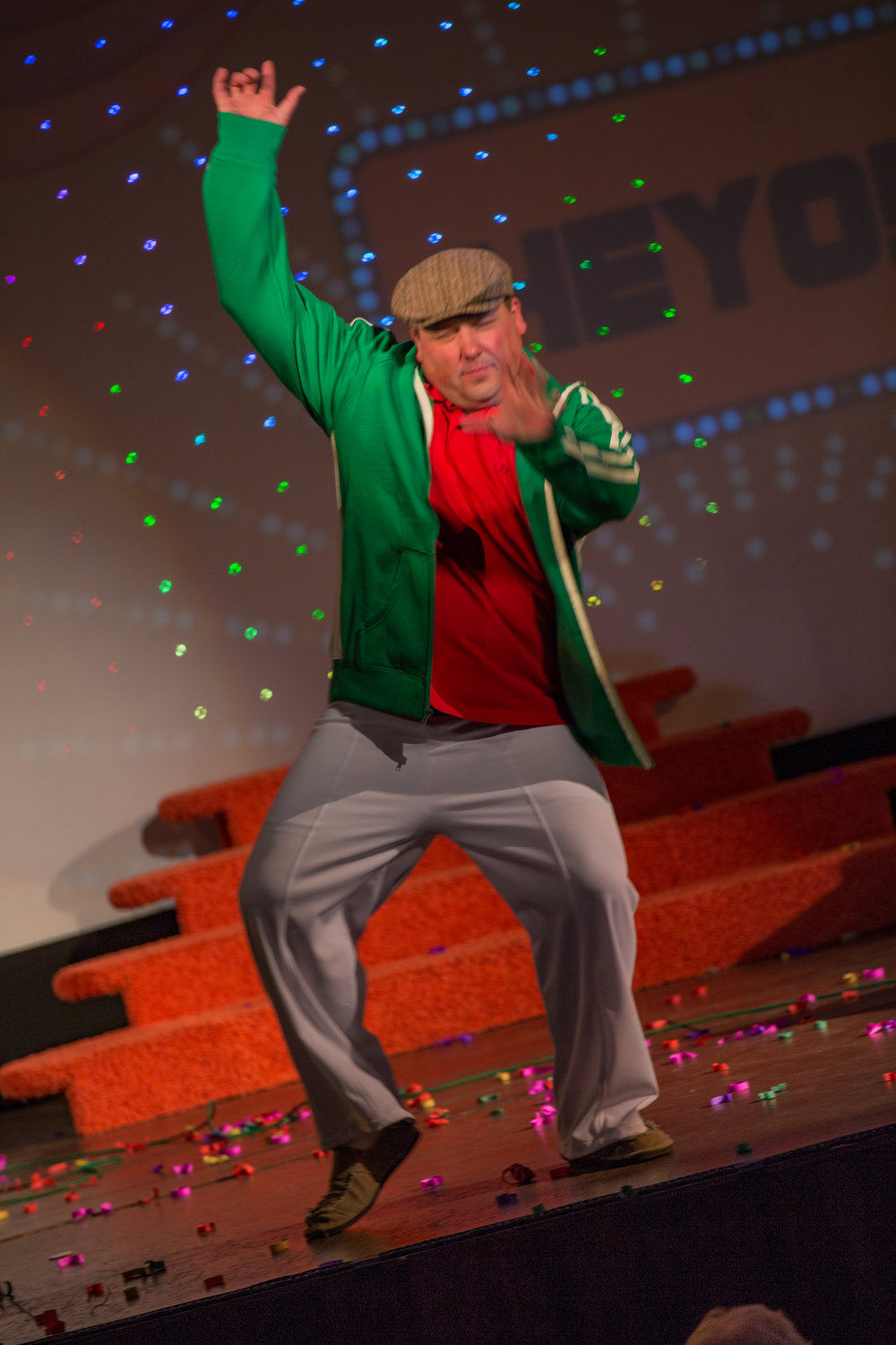 Robert Behnke defying gravity with his out-of-this-world dance moves.