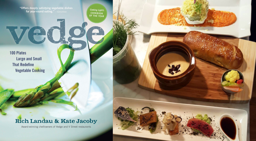 Vedge  (left);  @vedgerestaurant  (right)