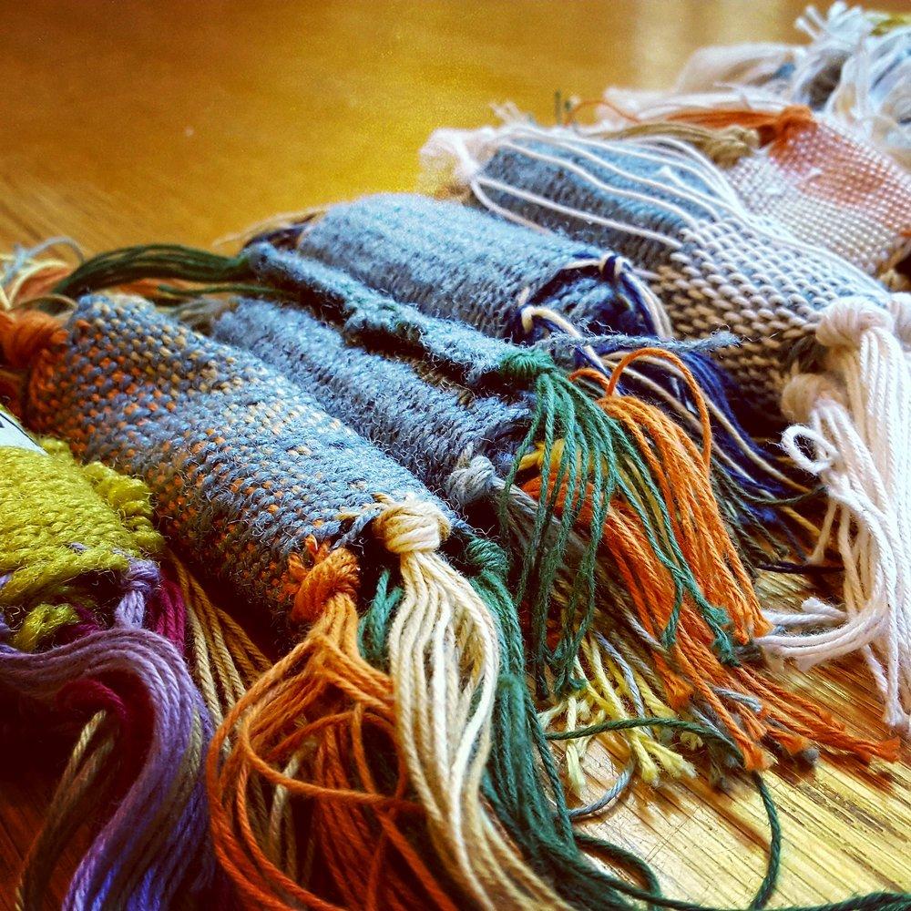 Student Weaving