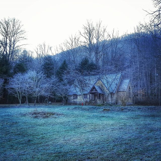 A frosty cold morning on the mountain.
