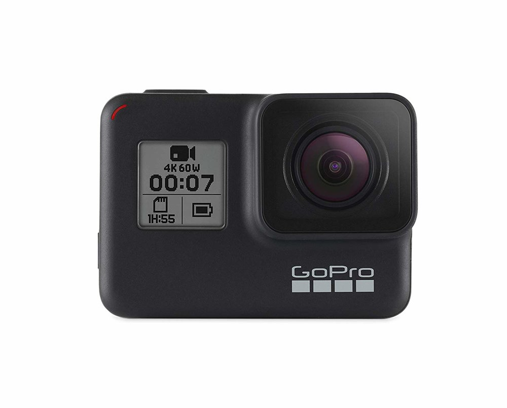 #4 GoPro HERO 7 Black - If you're in need of the most travel friendly camera out there, let me introduce you to my little friend: the GoPro HERO7 Black. This little guy is your secret weapon when it comes to capturing ALL your adventures. This latest version is super durable, waterproof, shoots in 4K and shoots 12MP photos. BOOM. (Mom & Dad are you reading this?!?!)