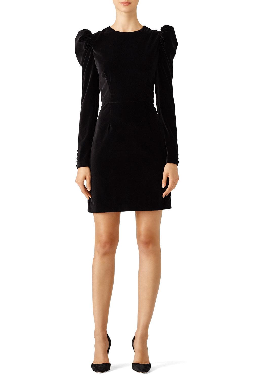 Jill Stuart Black Velvet Dress - If understated is your thing, there's nothing classier than black velvet.