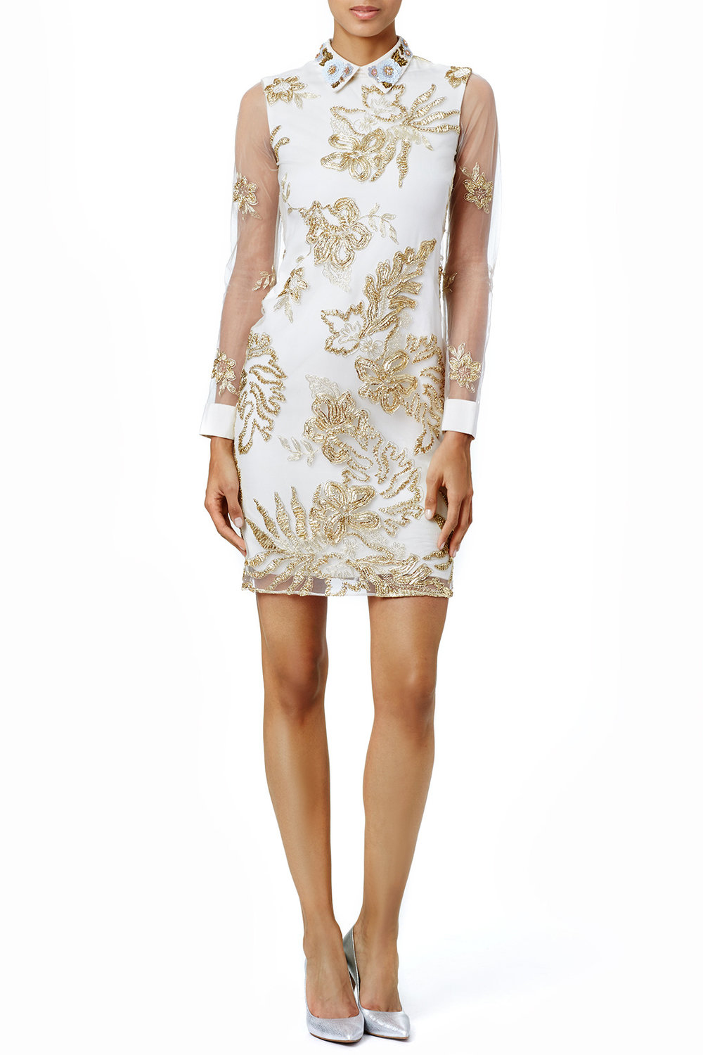 Marchesa Notte Delicate Gold Sheath - This is perfect in case your Grandma is Emily Gilmore from Gilmore Girls and lives in a mansion.