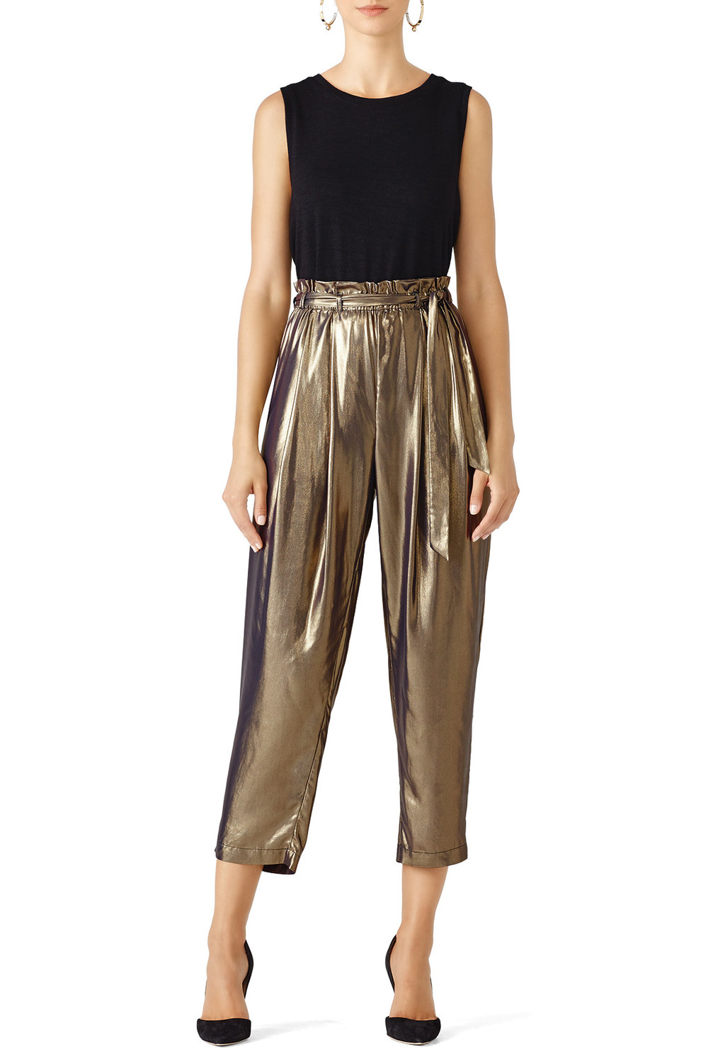 Free People Gold Harem Pant - If these don't scream party pants IDK what does. I'm planning to wear these to dinner on Christmas Eve. Again… I think Linda will hate them.