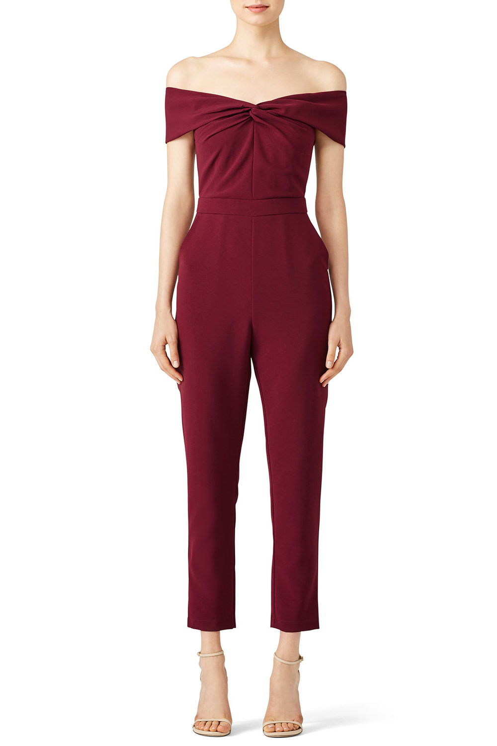 Adelyn Rae Karlie Woven Jumpsuit - I wore this for Christmas last year and I loved it. Would be awesome for GNO too!