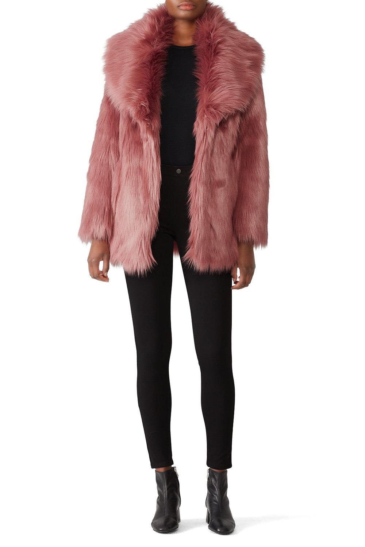 Unreal Fur Premium Rose Faux Fur Coat - This is the coat version of me…