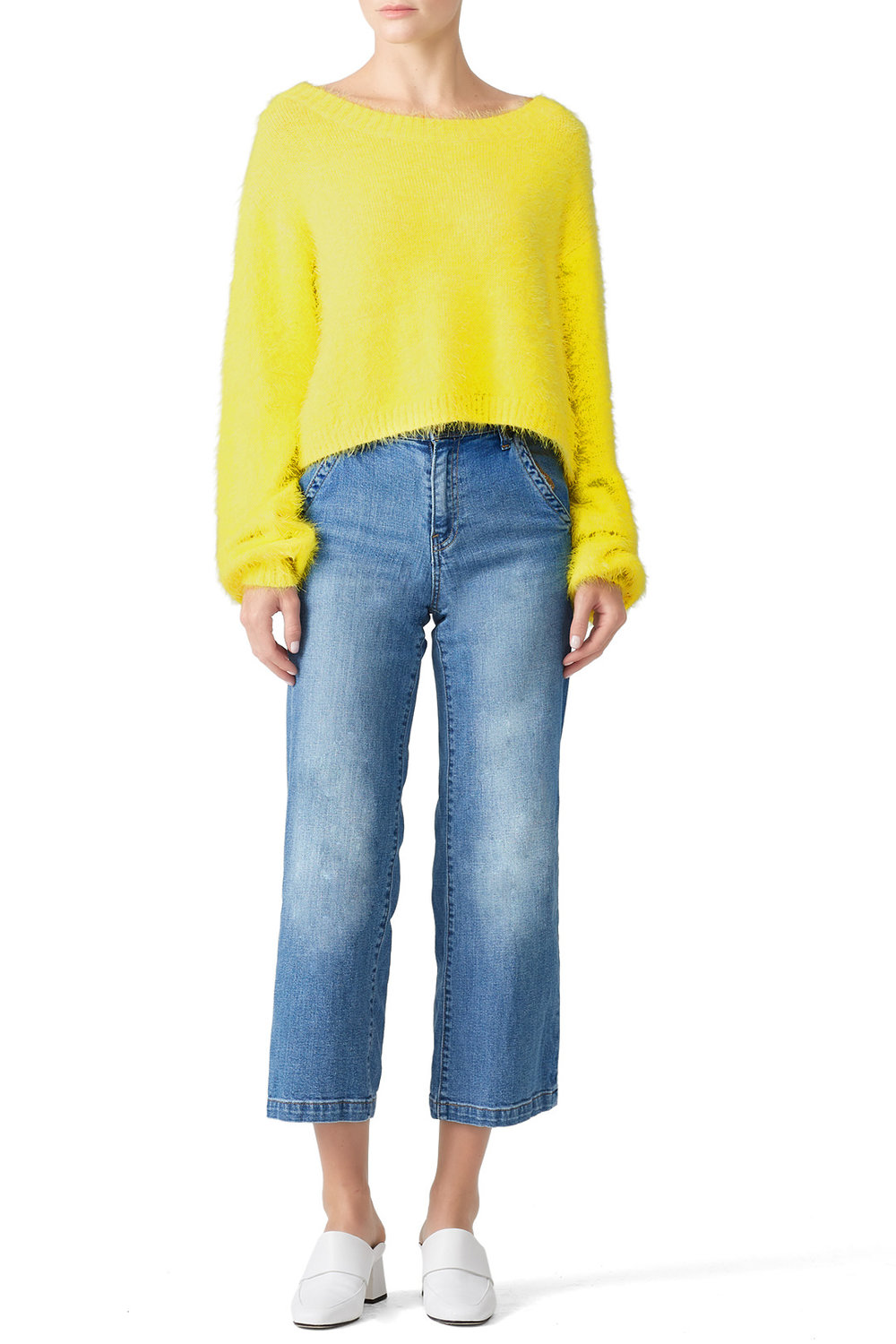 Somedays Lovin Clover Fields Sweater - Yellow? For the holidays? WHY NOT!