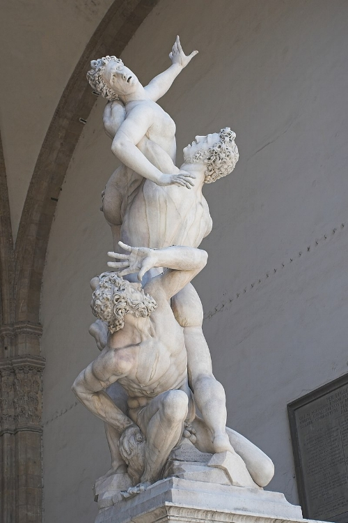 The Kidnapping of the Sabine Women   (1574–82) by Giambologna.