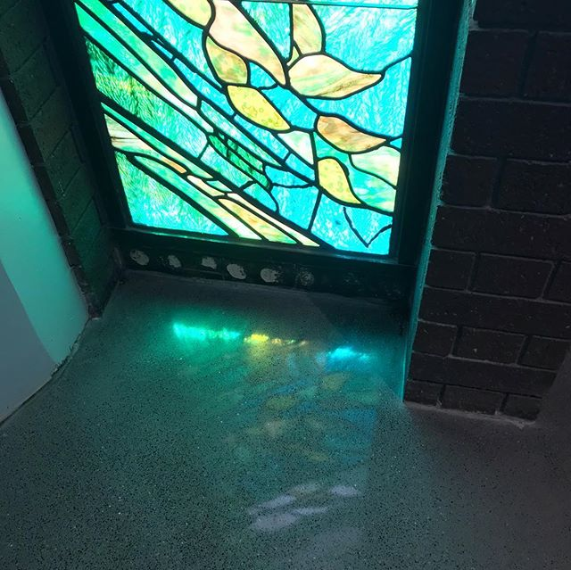Finished the polished overlay at St. James Catholic Church in Davis, CA. The lighting was bad, but in my opinion, it made the reflection from the stain glass look awesome. #polishedfloors #polishedconcrete #polishedconcretefloors #epoxyfloor #decorotiveconcrete #commercialflooring #industrialflooring #residentialflooring #residentialdesign #concrete #concretecountertops #flooringremoval #concretegrinding #concreteprep #concretelife #htcamera #ermator #ermatorvacuums #metabo #westcoat #westcoast #sasecompany #outdoorconcrete #outdoorconcretekitchen #rapidset #catholicchurch