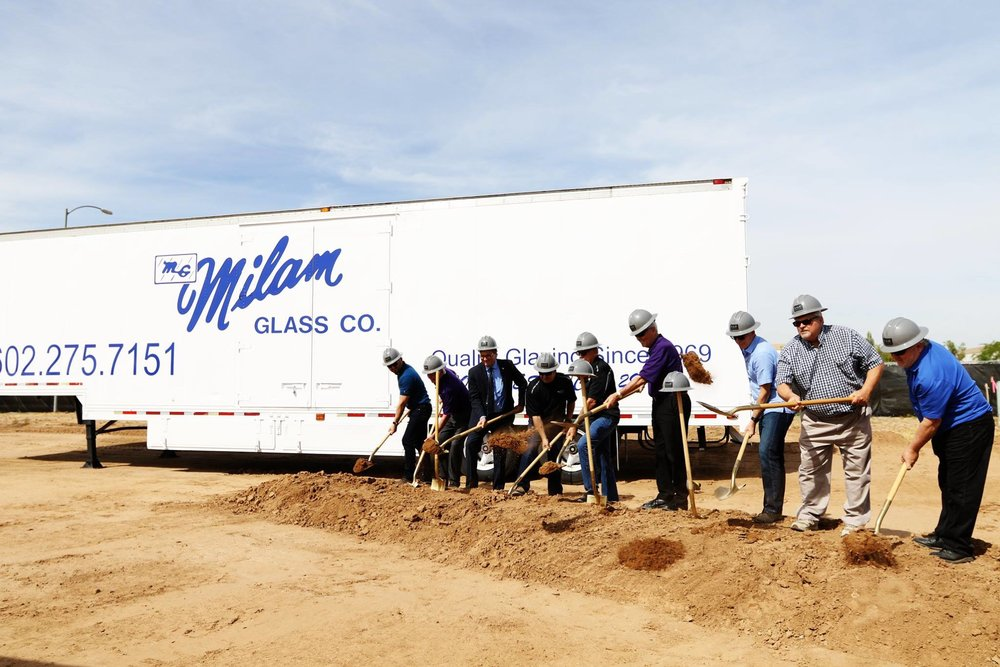 Ground Breaking Ceremony for new Milam Glass Headquarters in District 6*