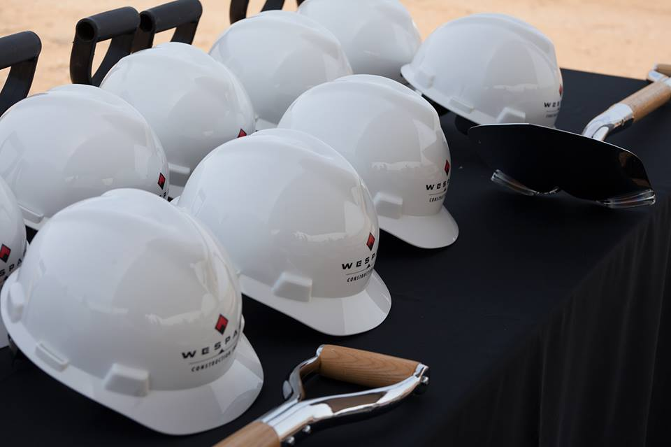 Hard Hats at Ground Breaking Ceremony for new 250,000 Sq ft Trimaco Manufacturing Facility in District 6*