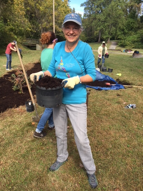 Stella Wear leads team to create native plant garden in High Point.