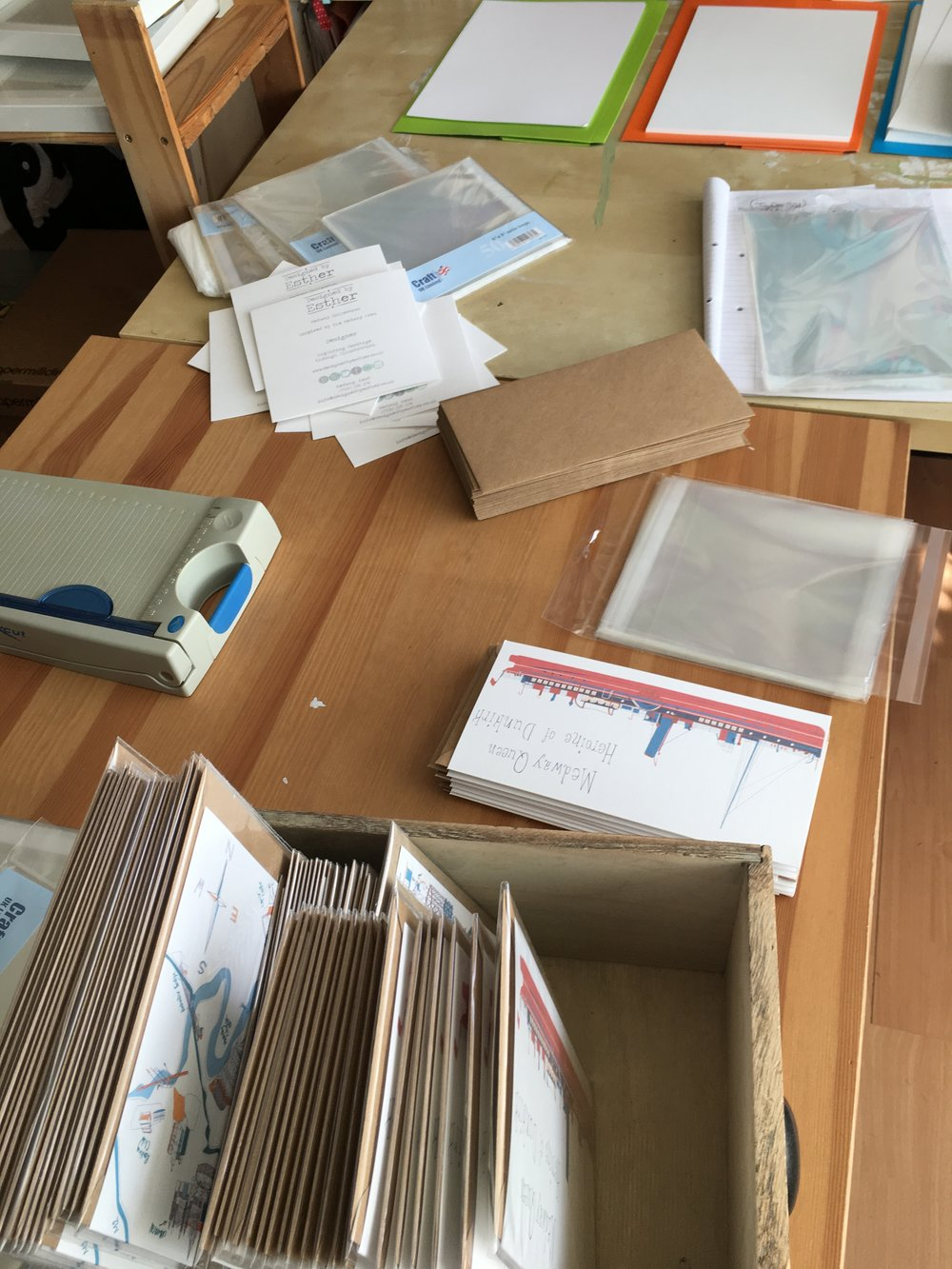 Production line for cards and prints