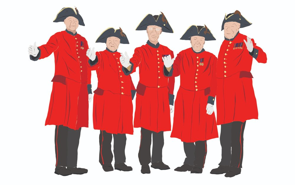 My Illustration of the Chelsea Pensioners