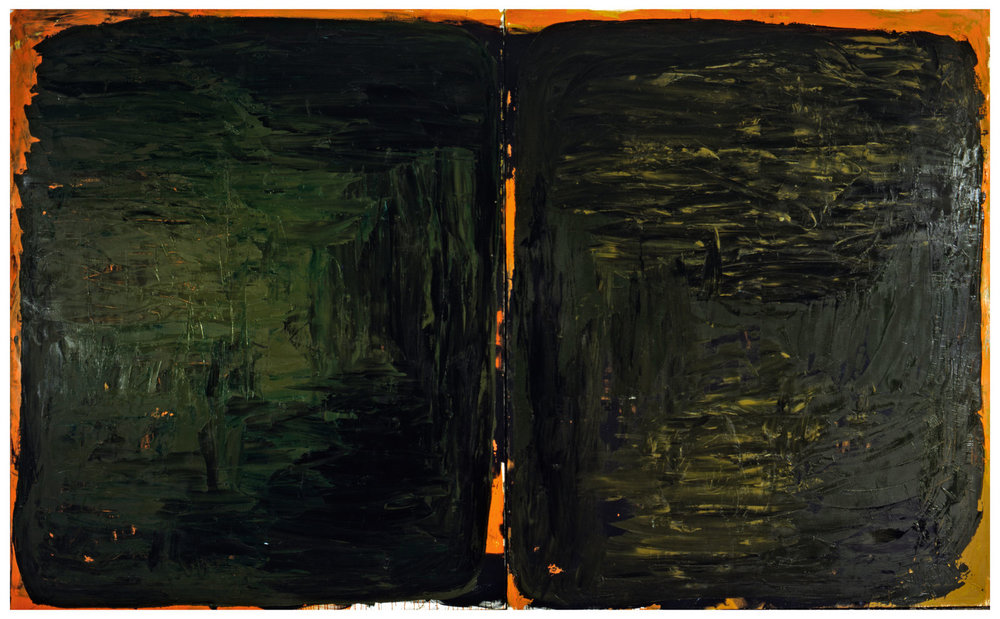 Untitled,1992, Oil on canvas, 87h x 142w in (220h x 360w cm), Morat-Institute, Freiburg in Breisgau