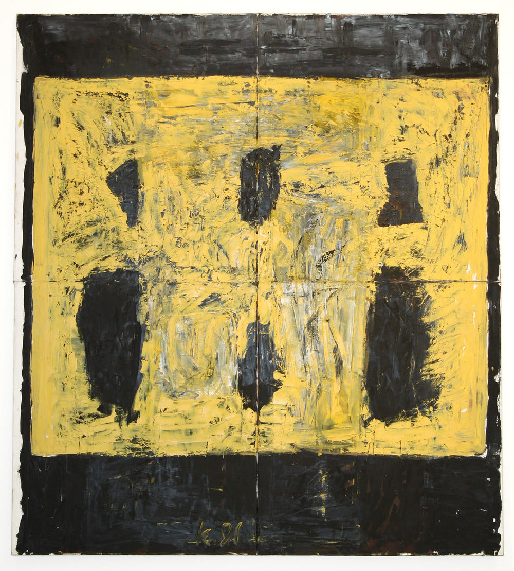 Brautrauschen , 1986, Oil on canvas, 79h x 71w in (200h x 180w cm), Private collection