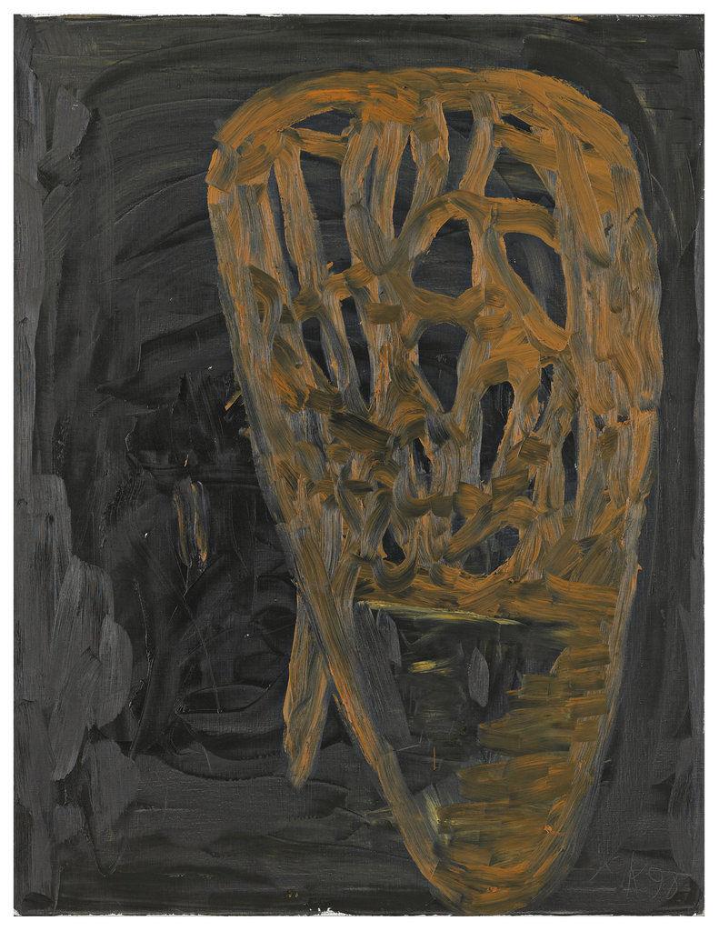 Der Waldblock 1 ,1990, Oil on canvas, 51h x 39w in (130h x 100w cm), Albertina Museum, Vienna