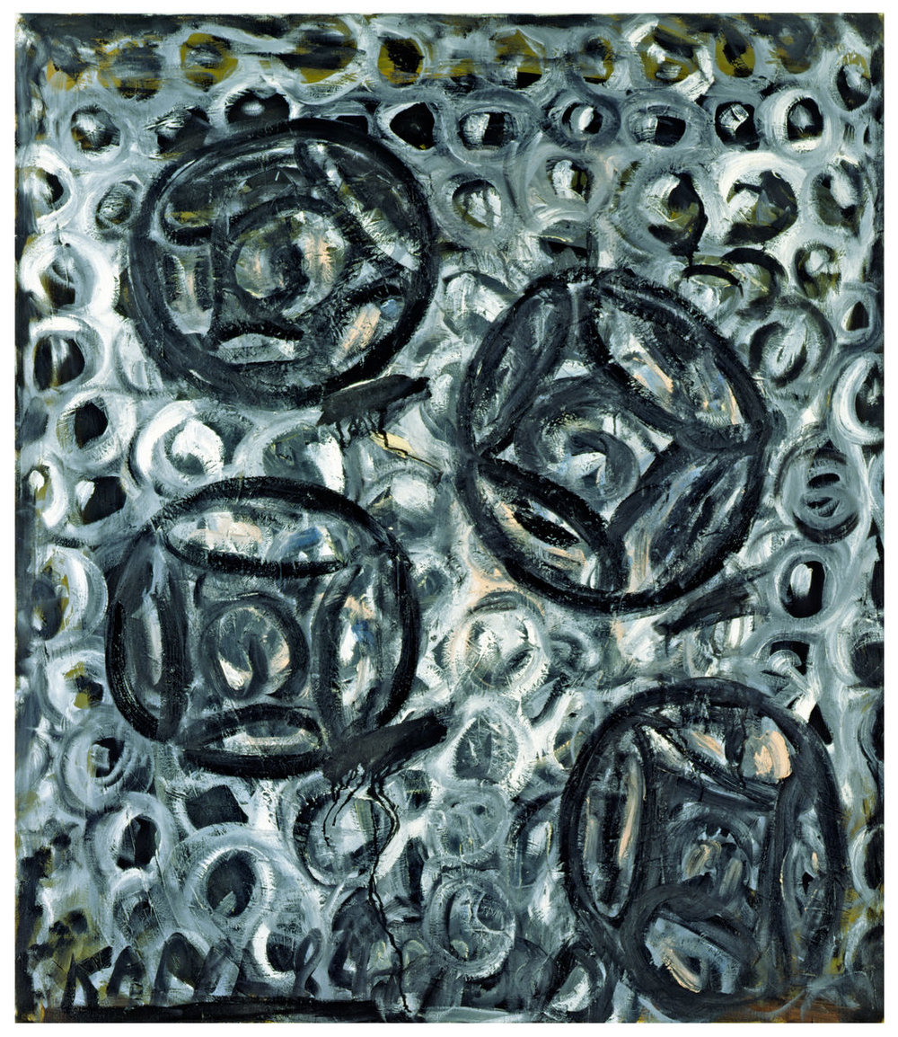 4 Rosen , 1984, Oil on canvas, 45h x 39w in (115h x 100w cm), Morat-Institute, Freiburg in Breisgau