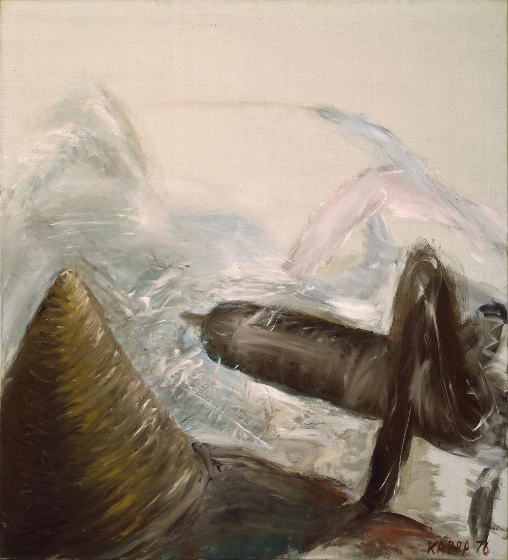 Hinterleib , 1976, Tempera on canvas, 55.51h x 49.21w in (141h x 125w cm), Morat-Institute, Freiburg in Breisgau
