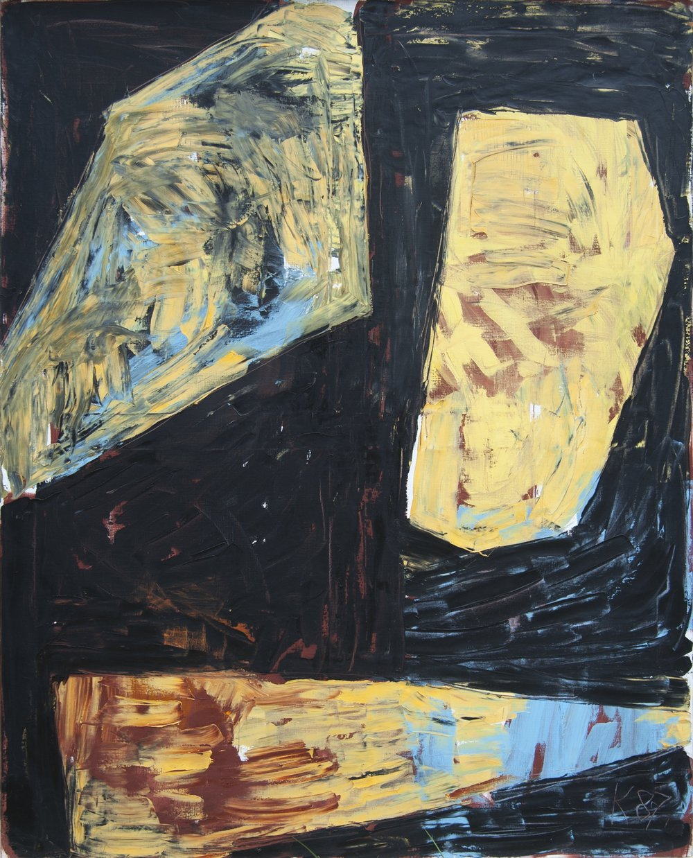 Ägyptische Reihe V , 1987, Oil on canvas, 78.74h x 62.99w in (200h x 160w cm)