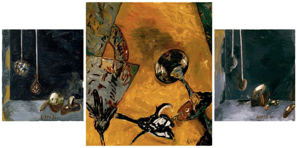 Kurt Kocherscheidt,  Schwarzmacht Triptychon , 1981