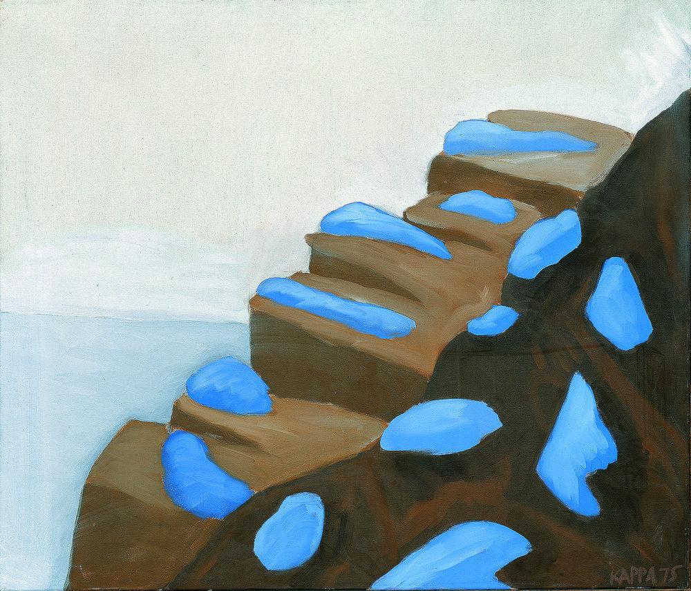 Erdterrasen (Eismeerküste) , 1975, Dispersion on canvas, 35.43h x 41.33w in (90 x 105 cm)