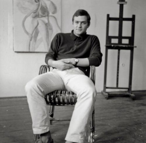 Kurt Kappa Kocherscheidt in his studio, 1967. Photo by Otto Breicha/Copyright: IMAGNO/Otto Breicha