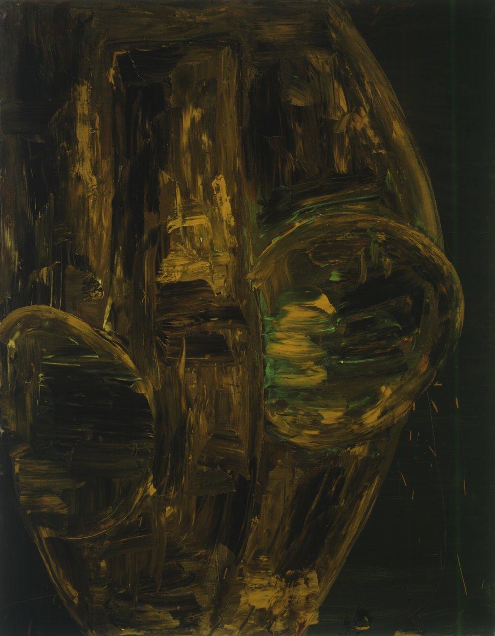 Grünocker III ,1992, Oil on canvas, 71h x 55w in (180h x 140w cm)