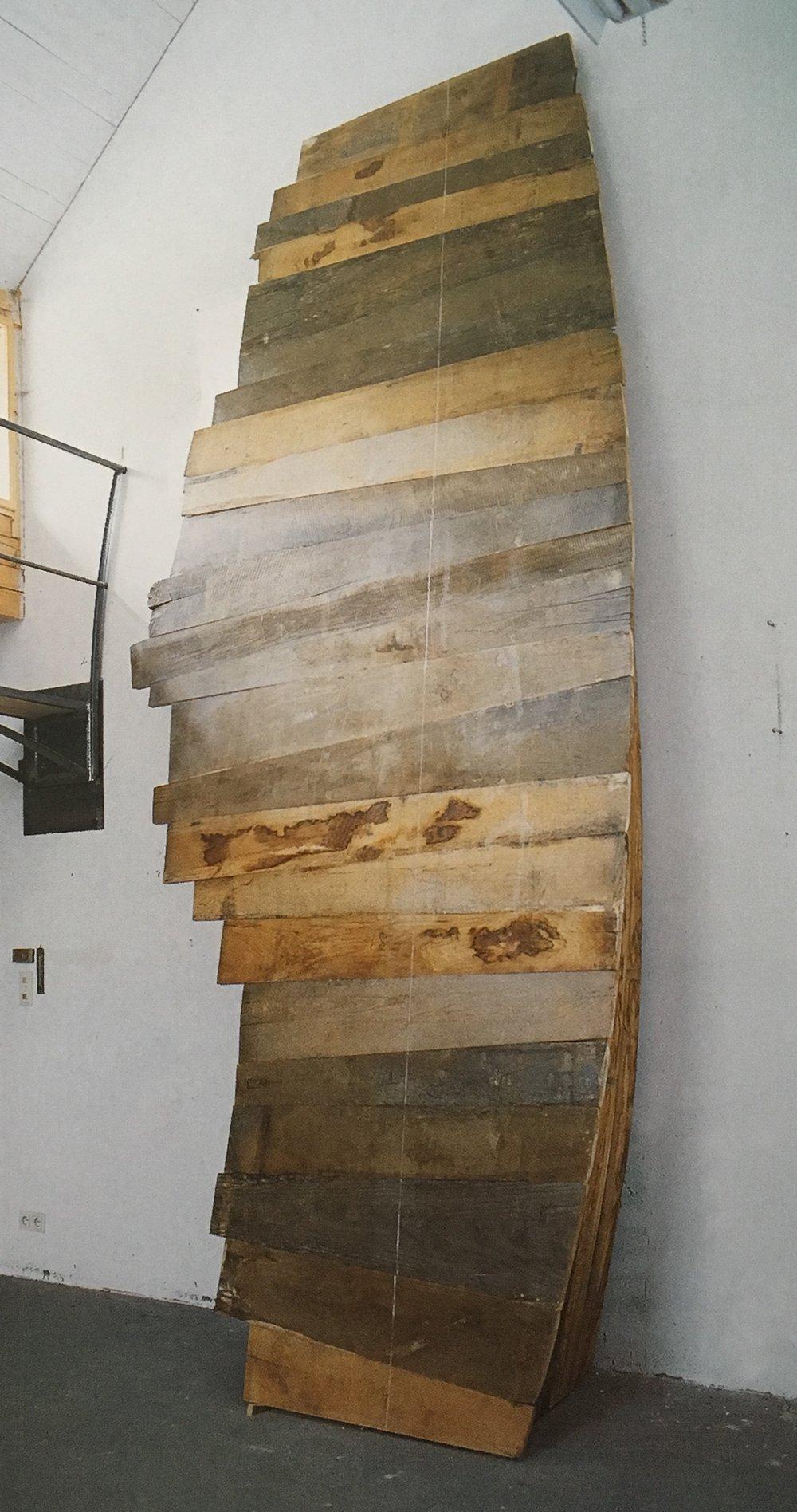 Aufwärtsgleitend , 1992, Oak wood, 188.99h x 62.99w x 35.43d cm (480h x 160w x 90d cm), Museum Moderner Kunst Stiftung Ludwig Wien