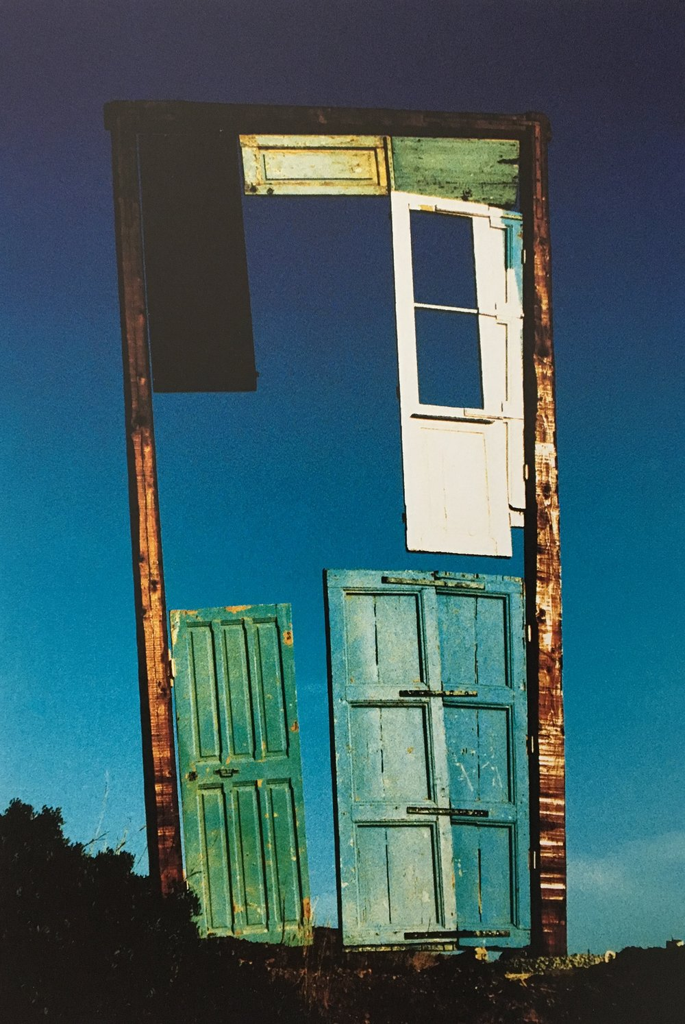 Tor der Winde , 1992, Wood, metal and acrylic paint, 236.22h x 98.42w x 11.81d in (600h x 250w x 30d cm), Private collection, Insel Syros, Kykladen