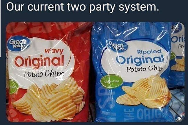 There is no difference between the two old parties.  The time for change is now!  #votedifferent #votelocal #vote3rdparty
