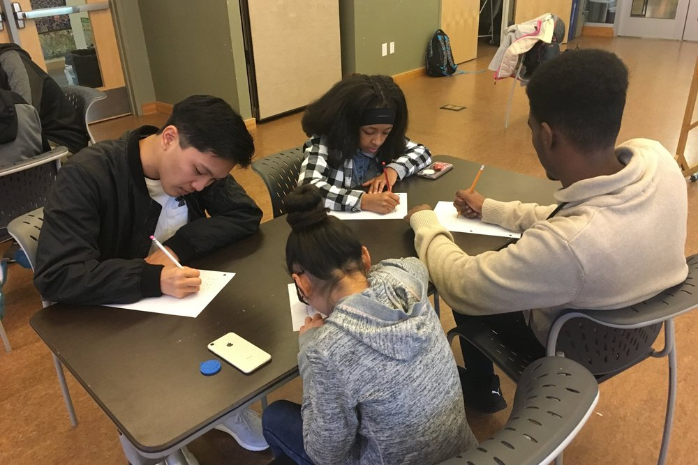 Reflect - Mentors are provided with various opportunities to reflect on their thoughts and mentoring experiences through classroom discussions and assignments. This process helps them to become active agents and actors in their own learning and the youths' learning.