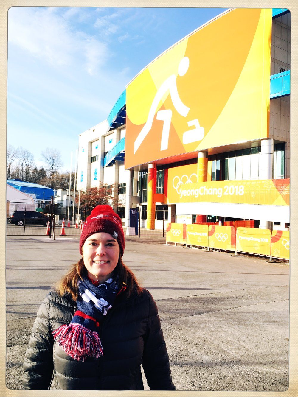 Outside the new Gangneung Curling Center