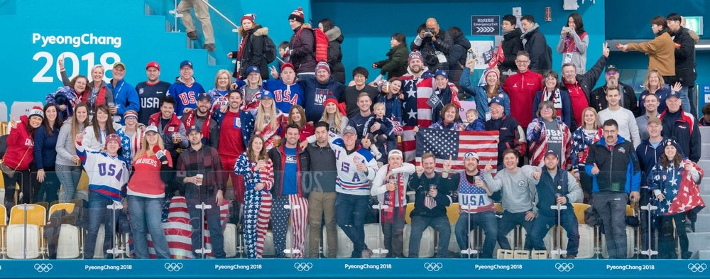 Team USA Fans in the Stands