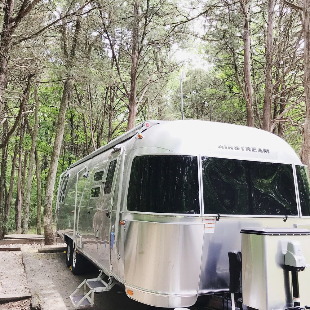 Le Twinkie, our 2018 Airstream International Signature 30' pulled with a 2018 F250 Super Duty with tow technology bundle